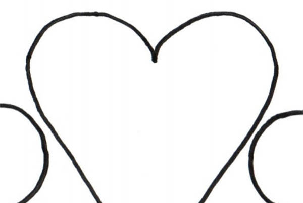 coloring page with hearts